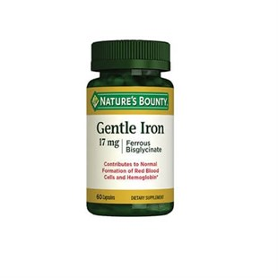 Natures Bounty Gentle Iron 17 mg 60 Kapsül