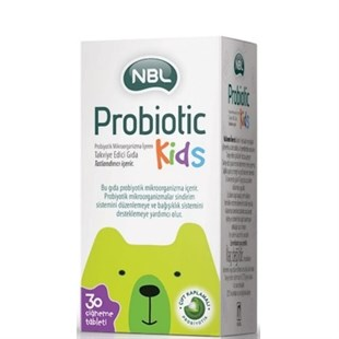 NBL Probiotic Kids 30 Çiğneme Tableti